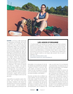 H - novembre 2015. Portrait photo et rédactionnel d'Orianne Lopez, athlète handisport et interne en médecine