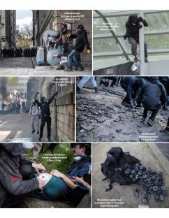 Paris Match - 19 mai 2016 - Un manifestant blessé est soigné par un StreetMedics à Paris le 12 mai