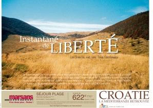 Campagne de publicité de l'Office National Croate de Tourisme - affiches métro