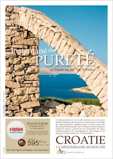 Campagne de publicité de l'Office National Croate de Tourisme - Magazine