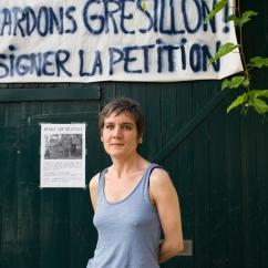 Les artistes de la cour du 48 rue ramponeau à Paris, menacés d'expulsion par la construction d'une auberge de jeunesse dans le cadre du plan Vital'Quartier de la Mairie de Paris dans le bas-belleville. 06 juillet 2015