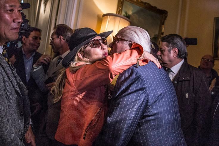 23 avril 2017, Saint-Cloud (92), FRANCE. Jean-Marie Le Pen à la soirée des résultats du 1er tour de la campagne présidentielle au manoir de Montretout, la résidence familiale du clan Le Pen.