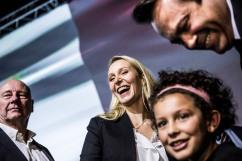 9 décembre 2015, Marseille (13). Meeting de Marion Maréchal Le Pen au parc Chanot à Marseille dans le cadre de la campagne des régionales de 2015 en PACA.