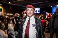 1er mai 2017, Villepinte, FRANCE. Meeting de Marine Le Pen (FN) dans l'entre deux tours de la campagne présidentielle 2017 à Villepinte.