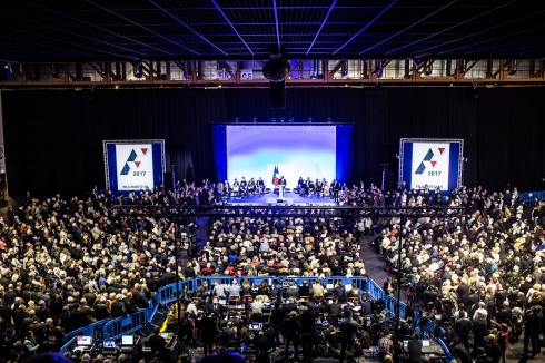 2 mars 2017, Nîmes (30), FRANCE. Meeting de François Fillon a Nimes le 2 mars 2017.