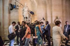 3 juillet 2017, Versailles (78), FRANCE. Des parlementaires dans la galerie des bustes après qu'Emmanuel Macron, président de la République, a réuni le congrès pour s'adresser aux parlementaires dès le début de son mandat.
