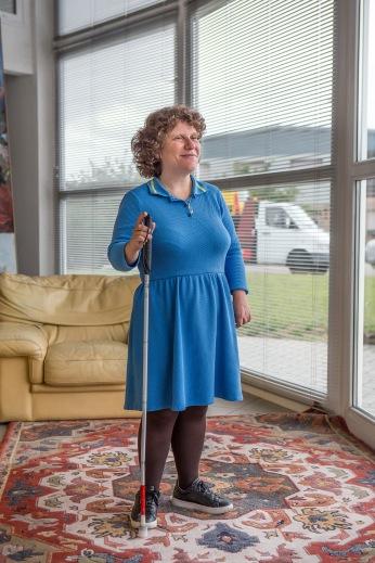 Christelle, employée atteinte de handicap chez Luence