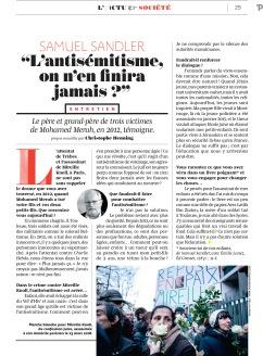 Pélerin Magazine, avril 2018