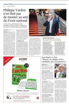 Le Figaro, 2 mai 2018