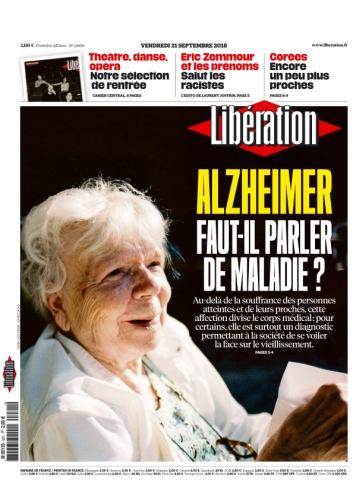 Libération, 21 septembre 2018