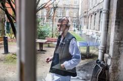11 janvier 2019. Alexandre dans la cour de l'hôpital Sainte-Anne.