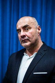 2 octobre 2016, Rungis, FRANCE. Portrait de Serge Ayoub, ex-leader de Troisième Voie, groupe dissout par décret du Conseil des Ministres suite à l'affaire Clément Méric.