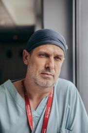 5 mai 2020, Massy, FRANCE. Docteur Goulenok, chef du service de reanimation de l hopital prive Jacques Cartier de Massy.