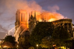 April 15, 2019, Paris, FRANCE. Fire at Notre Dame de Paris. 15 avril 2019, Paris, FRANCE. Incendie a Notre Dame de Paris. SUR LA PHOTO : Notre Dame de Paris en feu.
