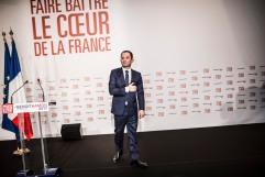 29 janvier 2017; Paris (75), FRANCE. Discours de victoire de Benoît Hamon (PS) à la maison de la Mutualité dans le cadre des primaires citoyennes de la Belle Alliance Populaire.