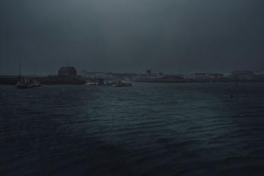 """""""Rentrer au port"""", Saint-Guénolé, janvier 2021."""