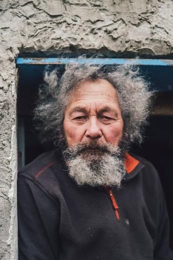 """""""Ambroise, vieil ermite"""", Plogoff, janvier 2021."""